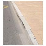 Mauvaise qualité de béton  : rugueux,  classe de résistance à la flexion  inf. à 6MPa
